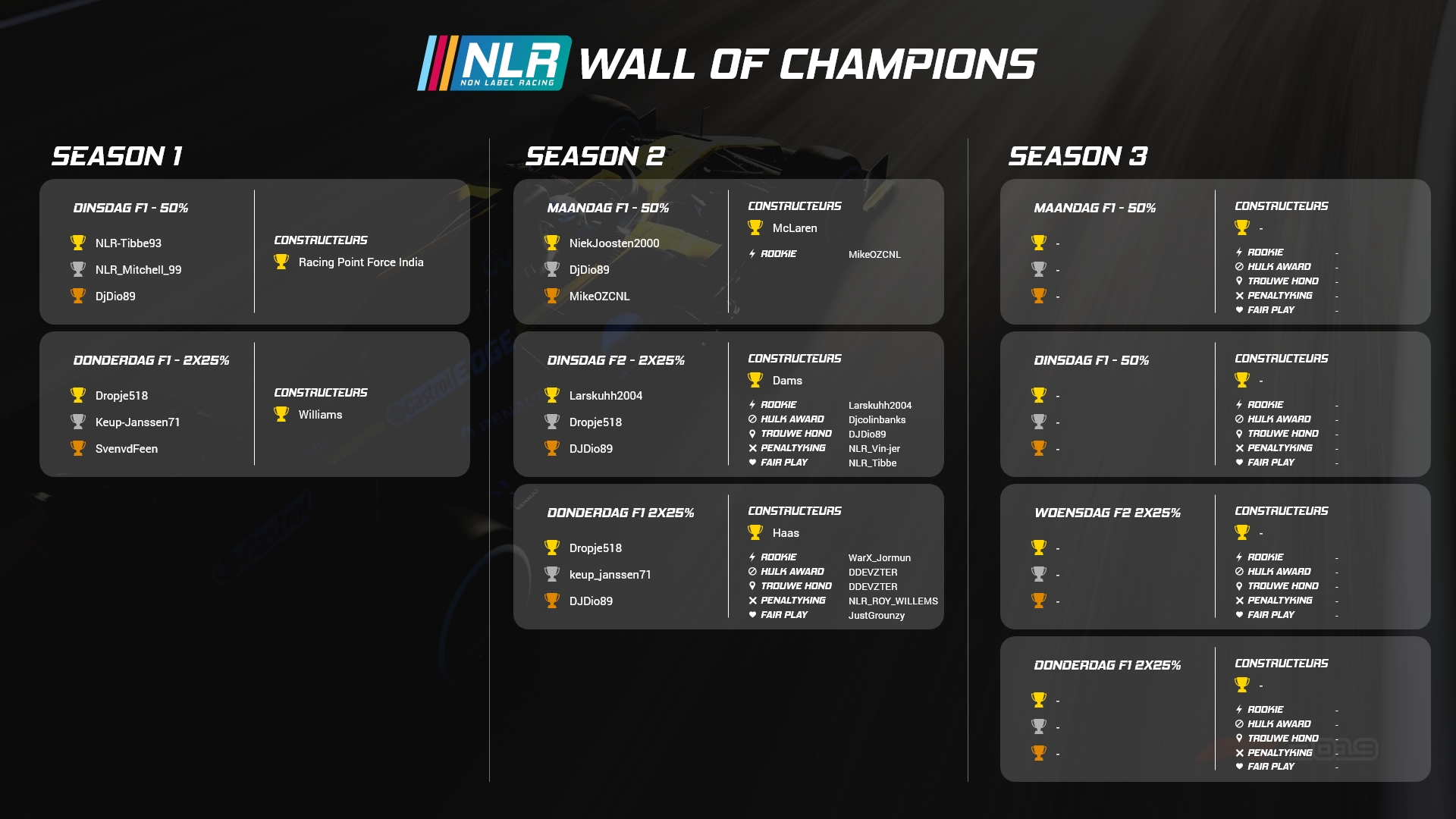 Wall Of Champions NLR